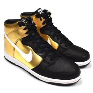 Nike High dunk Premium metallic gold size 9